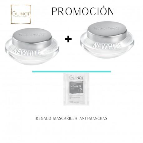 Crema de día Despigmentante + Crema de noche despigmentante New White de GUINOT
